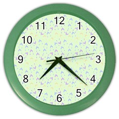 Minty Hats Color Wall Clocks