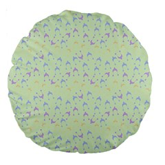 Minty Hats Large 18  Premium Round Cushions by snowwhitegirl