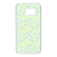 Minty Hats Samsung Galaxy S7 White Seamless Case by snowwhitegirl