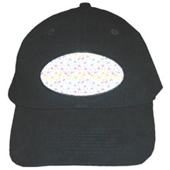Pastel Hats Black Cap