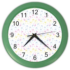 Pastel Hats Color Wall Clocks by snowwhitegirl