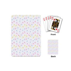 Pastel Hats Playing Cards (mini)  by snowwhitegirl