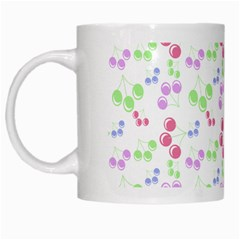 Candy Cherries White Mugs
