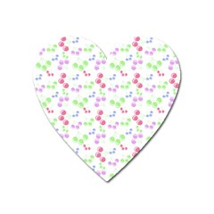 Candy Cherries Heart Magnet