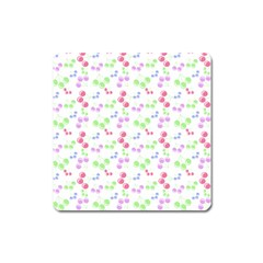 Candy Cherries Square Magnet