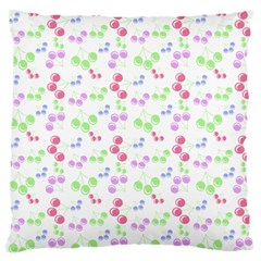 Candy Cherries Large Flano Cushion Case (one Side) by snowwhitegirl