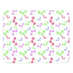 Candy Cherries Double Sided Flano Blanket (large)  by snowwhitegirl