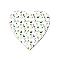Green Cherries Heart Magnet