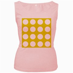 Big Dot Yellow Women s Pink Tank Top