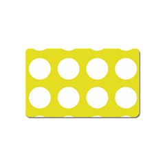 Big Dot Yellow Magnet (name Card)