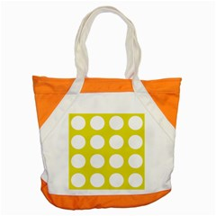 Big Dot Yellow Accent Tote Bag