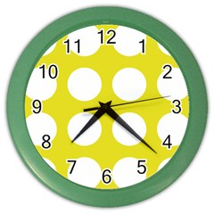 Big Dot Yellow Color Wall Clocks