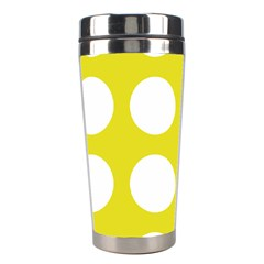 Big Dot Yellow Stainless Steel Travel Tumblers by snowwhitegirl