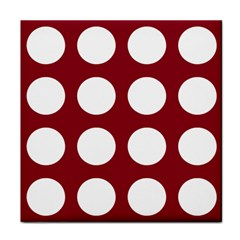 Big Dot Red Tile Coasters