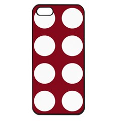 Big Dot Red Apple Iphone 5 Seamless Case (black)