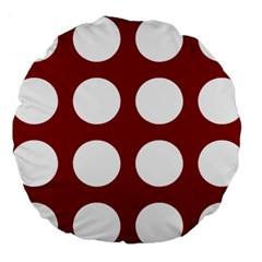 Big Dot Red Large 18  Premium Round Cushions by snowwhitegirl