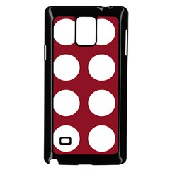 Big Dot Red Samsung Galaxy Note 4 Case (black) by snowwhitegirl