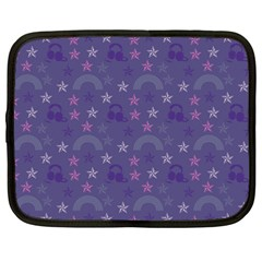 Music Stars Blue Netbook Case (large) by snowwhitegirl