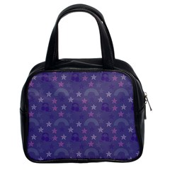 Music Stars Blue Classic Handbags (2 Sides) by snowwhitegirl