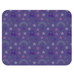Music Stars Blue Double Sided Flano Blanket (medium)  by snowwhitegirl