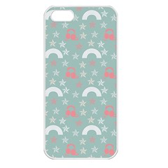 Music Stars Sky Blue Apple Iphone 5 Seamless Case (white)