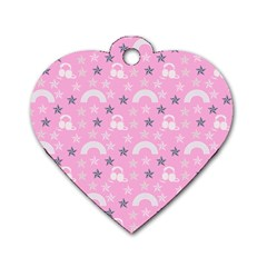 Music Star Pink Dog Tag Heart (two Sides) by snowwhitegirl