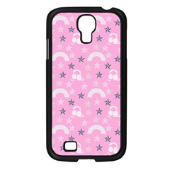 Music Star Pink Samsung Galaxy S4 I9500/ I9505 Case (black) by snowwhitegirl