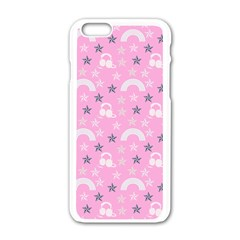 Music Star Pink Apple Iphone 6/6s White Enamel Case