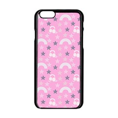 Music Star Pink Apple Iphone 6/6s Black Enamel Case