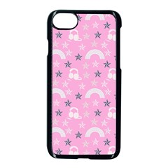 Music Star Pink Apple Iphone 7 Seamless Case (black)