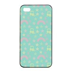 Music Stars Seafoam Apple Iphone 4/4s Seamless Case (black)