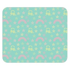 Music Stars Seafoam Double Sided Flano Blanket (small)