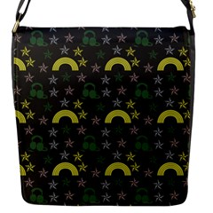 Music Star Dark Grey Flap Messenger Bag (s) by snowwhitegirl