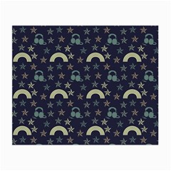 Music Stars Dark Teal Small Glasses Cloth (2-side) by snowwhitegirl