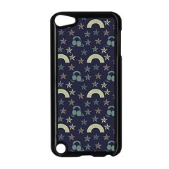 Music Stars Dark Teal Apple Ipod Touch 5 Case (black)