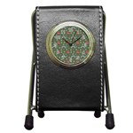 Music Stars Grass Green Pen Holder Desk Clocks Front