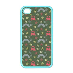 Music Stars Grass Green Apple Iphone 4 Case (color) by snowwhitegirl