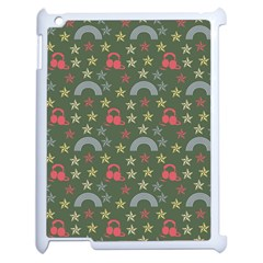 Music Stars Grass Green Apple Ipad 2 Case (white) by snowwhitegirl