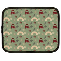 Music Stars Green Netbook Case (xl)  by snowwhitegirl