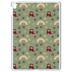 Music Stars Green Apple Ipad Pro 9 7   White Seamless Case