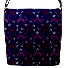 Music Stars Navy Flap Messenger Bag (s) by snowwhitegirl