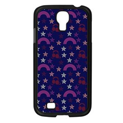 Music Stars Navy Samsung Galaxy S4 I9500/ I9505 Case (black)