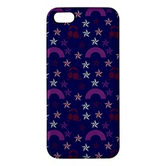 Music Stars Navy Iphone 5s/ Se Premium Hardshell Case by snowwhitegirl