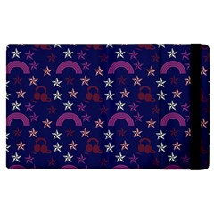 Music Stars Navy Apple Ipad Pro 12 9   Flip Case