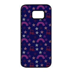 Music Stars Navy Samsung Galaxy S7 Edge Black Seamless Case