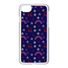 Music Stars Navy Apple Iphone 7 Seamless Case (white)