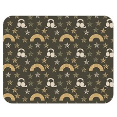 Music Stars Grey Double Sided Flano Blanket (medium)  by snowwhitegirl