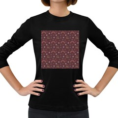 Music Stars Brown Women s Long Sleeve Dark T-shirts by snowwhitegirl