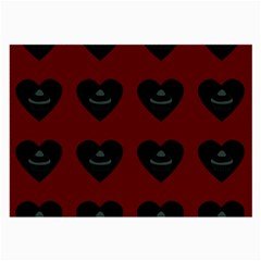 Cupcake Blood Red Black Large Glasses Cloth (2-side) by snowwhitegirl