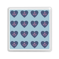 Cupcake Heart Teal Blue Memory Card Reader (square)  by snowwhitegirl
